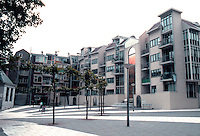 "Amsterdam: Nieumarkt--The ""Pentagon""--late '70's.  ""Reminiscent ofSierna's Piazza del Campo""--ABITARE, July-Aug. 185, p. 80. Photo '87."