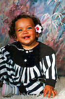Manon Serrano, 1 year old. Manon, born on the 4th July 1994, was accidentally switched with another baby at the maternity clinic 5 days after she was born. Manon's true identity wasn't discovered until 2004 and she, like the baby she was swapped with, has stayed with the family that raised her.