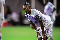 LAKE BUENA VISTA, FL - AUGUST 06: Nani #17 of Orlando City SC waits for the corner kick during a game between Orlando City SC and Minnesota United FC at ESPN Wide World of Sports on August 06, 2020 in Lake Buena Vista, Florida.