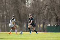 LOUISVILLE, KY - MARCH 13: Freja Olofsson #8 of Racing Louisville FC looks to pass the ball during a game between West Virginia University and Racing Louisville FC at Thurman Hutchins Park on March 13, 2021 in Louisville, Kentucky.