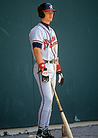 Chipper Jones of the Richmond Braves at McCoy Stadium in Pawtucket, RI in 1993  (Photo by Ken Babbitt/Four Seam Images)