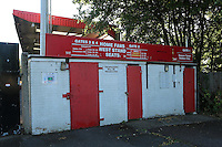 Turnstile entrance for the home fans to the West Stand during Stevenage vs Stoke City, EFL Cup Football at the Lamex Stadium on 23rd August 2016