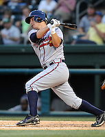 May 15, 2009: Infielder Chais Fuller (10) of the Rome Braves, Class A affiliate of the Atlanta Braves, in a game against the Greenville Drive at Fluor Field at the West End in Greenville, S.C. Photo by: Tom Priddy/Four Seam Images