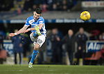St Johnstone v Rangers…28.12.16     McDiarmid Park    SPFL<br />Graham Cummins shot is saved by Wes Foderingham<br />Picture by Graeme Hart.<br />Copyright Perthshire Picture Agency<br />Tel: 01738 623350  Mobile: 07990 594431