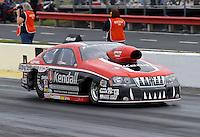 May 10, 2013; Commerce, GA, USA: NHRA pro stock driver V. Gaines during qualifying for the Southern Nationals at Atlanta Dragway. Mandatory Credit: Mark J. Rebilas-