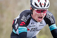 Robert Stannard (AUS/BikeExchange) suffering up the infamous Kemmelberg<br /> <br /> 83rd Gent-Wevelgem - in Flanders Fields (ME - 1.UWT)<br /> 1 day race from Ieper to Wevelgem (BEL): 254km<br /> <br /> ©kramon