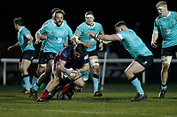 Phil Cringle of London Scottish in action during the Greene King IPA Championship match between London Scottish Football Club and Nottingham Rugby at Richmond Athletic Ground, Richmond, United Kingdom on 7 February 2020. Photo by Carlton Myrie.
