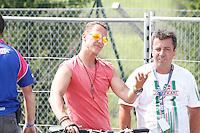Ortona (CH) 21/07/2013: L'ex pilota e campione di Formula 1 Michael Schumacher presente nei box di Kart del campionato europeo Cik-Fia in cui corre suo figlio Mick Schumacher. Foto Adamo Di Loreto/buenaVista*photo Michael Schumacher  during the European Cik-Fia with your's son July 21, 2013. Photo: Adamo Di Loreto/buenaVista*photo