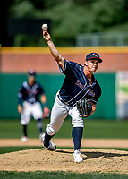 6 June 2021: New Hampshire Fisher Cats starting pitcher Kyle Johnston on the mound against the Binghamton Rumble Ponies at Northeast Delta Dental Stadium in Manchester, NH. The Rumble Ponies defeated the Fisher Cats 9-6 to close out their 6-game series. Mandatory Credit: Ed Wolfstein Photo *** RAW (NEF) Image File Available ***