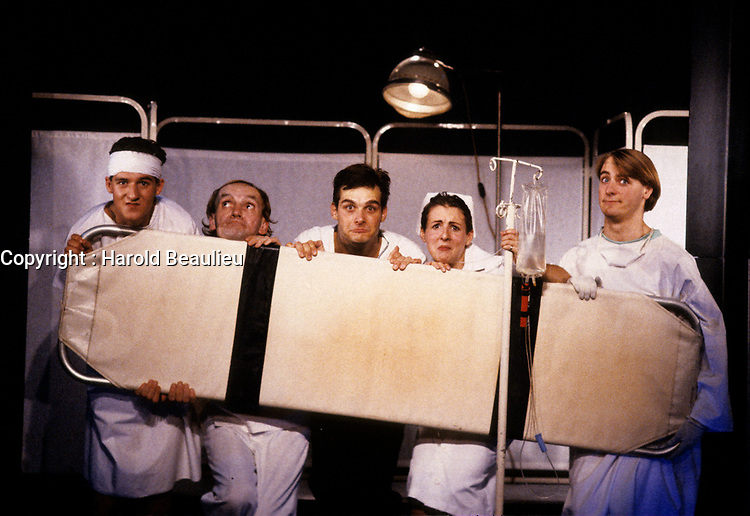 FILE PHOTO (Exact date unknown) - Le groupe sanguin<br /> <br /> in the eighties<br /> <br /> PHOTO : Harold Beaulieu -  Agence Quebec Presse