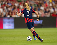 AUSTIN, TX - JUNE 16: Samantha Mewis #3 of the USWNT dribbles the ball during a game between Nigeria and USWNT at Q2 Stadium on June 16, 2021 in Austin, Texas.