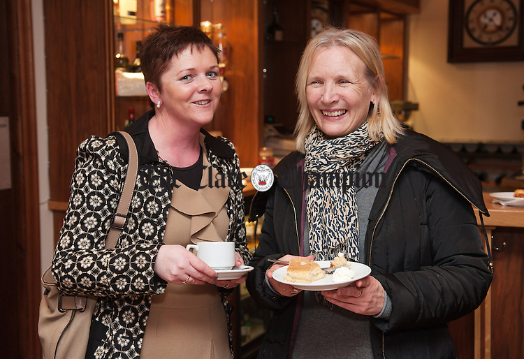 Geraldine Keane and Jacqueline Murray at the official opening of the 52nd West Clare Drama Festival at Doonbeg. Photograph by John Kelly.