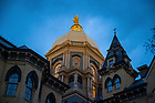 March 31, 2020; Dome at dusk on a cloudy evening (Photo by Matt Cashore/University of Notre Dame)