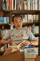 HARUKI MURAKAMI AT HIS OFFICE IN CENTRAL TOKKYO