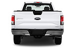 Straight rear view of 2016 Ford F 150 XL 2 Door Pickup Rear View  stock images