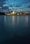 Sydney Opera House & Harbour Bridge during blue hour, Sydney, NSW, Australi