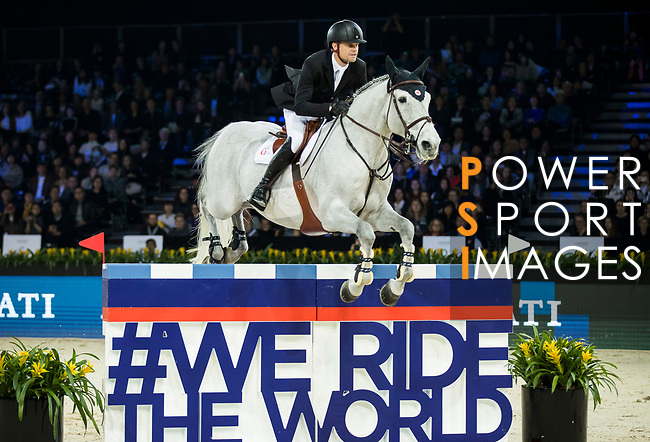 Jérôme Guery of Belgium riding Papillon Z competes in the Longines Speed Challenge during the Longines Masters of Hong Kong at AsiaWorld-Expo on 10 February 2018, in Hong Kong, Hong Kong. Photo by Ian Walton / Power Sport Images