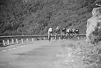 group down the last descent towards the finish <br /> <br /> stage 18: Roa - Riaza (204km)<br /> 2015 Vuelta à Espana