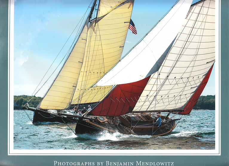 Calendar girl….the classic Irish yawl Mavis (Ron Hawkins) has received the ultimate accolade of being both the cover star and the November feature of photographer Benjamin Mendlowitz's 40th Annual Calendar 2022 of Wooden Boats