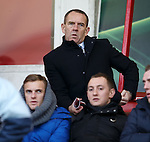 Morton manager Kenny Shiels sitting in the stand