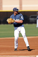 Justin Baum - San Diego Padres - 2009 spring training.Photo by:  Bill Mitchell/Four Seam Images