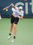 John Isner (USA) defeats Dmitry Tursunov (RUS) 6(7)-7(9), 6-3, 6-4 at the CitiOpen in Washington, D.C., Washington, D.C.  District of Columbia on August 3, 2013.