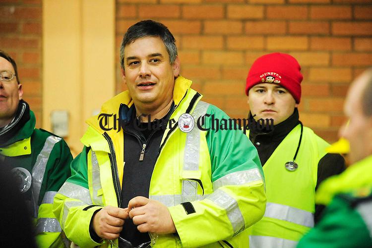 Mark Dickson, Shannon fire Station Emergency training exercise.Pic Arthur Ellis.