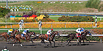 July 09, 2011: First Dude(#7)and jockey Martin Garcia win the Hollywood Gold Cup(GI) at Hollywood Park, Inglewood, CA