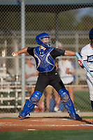 Brady Neal (16) during the WWBA World Championship at Lee County Player Development Complex on October 8, 2020 in Fort Myers, Florida.  Brady Neal, a resident of Tallahassee, Florida who attends IMG Academy, is committed to Louisiana State.  (Mike Janes/Four Seam Images)
