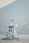 John McRoberts and Jackie Gay, Rio 2016 - Para Sailing // Voile adaptée.<br /> John McRoberts and Jackie Gay compete in the 2-Person Keelboat (SKUD18) // John McRoberts et Jackie Gay participent au quillard pour 2 personnes (SKUD18). 13/09/2016.