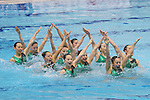Japan team group (JPN), <br /> AUGUST 10, 2014 - Synchronised Swimming : <br /> Japan Synchro Challenge Cup 2014 <br /> Exhibition <br /> Team Free combinations <br /> at Tatsumi International Swimming Pool, Tokyo, Japan. <br /> (Photo by YUTAKA/AFLO SPORT)