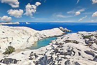 The famous Sarakiniko in Milos, Greece