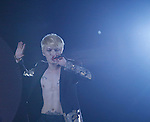 JYJ, Aug 09, 2014 : JaeJoong of South Korean boy band JYJ performs during their 2014 Asia Tour 'The Return of The King' Concert at Jamsil stadium in Seoul, South Korea.  (Photo by Lee Jae-Won/AFLO) (SOUTH KOREA)
