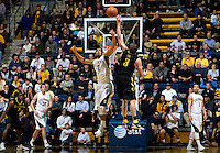 Jorge Gutierrez of California fights for a loose ball against Oregon during the game at Haas Pavilion in Berkeley, California on February 16th, 2012.  California defeated Oregon, 86-83.