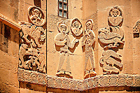 Bas Releif sculptures with scenes from the Bible on the outside of the 10th century Armenian Orthodox Cathedral of the Holy Cross on Akdamar Island, Lake Van Turkey 30