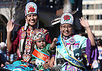 Miss Numaga Princess Alyssas Songoi, Tiny Tot Princess Karianna John and Jr. Miss Princess Chesney Sampson ride in the annual Nevada Day parade in Carson City, Nev. on Saturday, Oct. 29, 2016. <br />Photo by Cathleen Allison