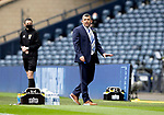 St Johnstone v Hibs…22.05.21  Scottish Cup Final Hampden Park<br />Saints manager Callum Davidson tries to settle his players as the game draws to a close<br />Picture by Graeme Hart.<br />Copyright Perthshire Picture Agency<br />Tel: 01738 623350  Mobile: 07990 594431