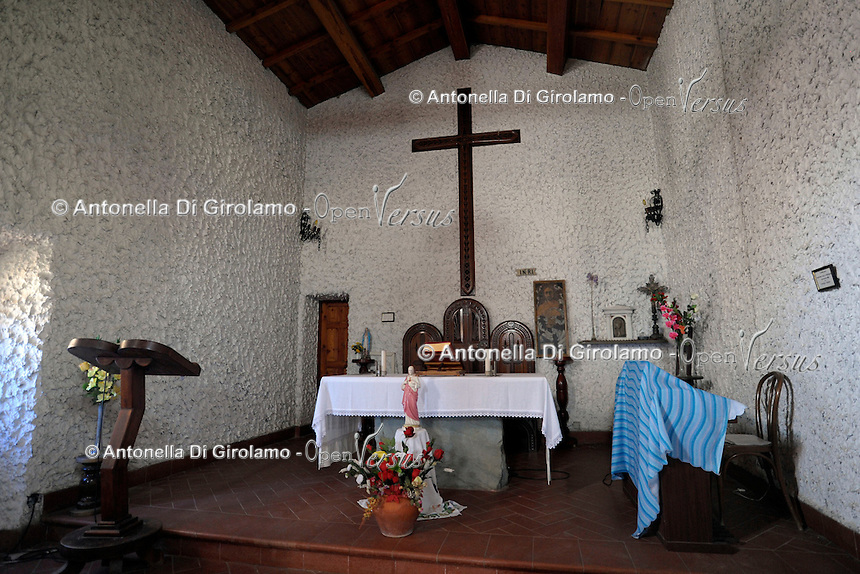 Isola di Gorgona. La chiesa del paese. .The village church.Gorgona island.