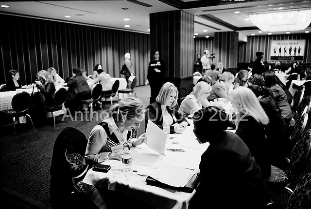 New York New York<br /> April 15, 2010<br /> <br /> Hundreds of women attend the Women For Hire jobs fair at the Sheraton Hotel in mid-town Manhattan. Resume reviews and mentoring match is offered during the event.