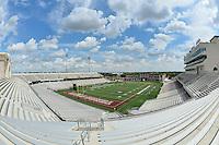 View of  Bob Cat Stadium before NCAA Football game kickoff between Texas State University and Arkansas Pine-Bluff, Saturday, August 30, 2014 in San Marcos, Tex. (Mo Khursheed/TFV Media via AP Images)
