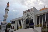 Minaret outside the Friday Mosque, Malé, Maldives.