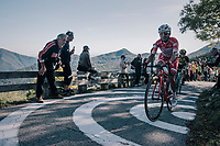 Rodolfo Andres Torres (COL/Androni-Sidermec-Bottecchia) up the infamous Muro di Sormano (avg 17%/max 25%)<br /> <br /> Il Lombardia 2017<br /> Bergamo to Como (ITA) 247km