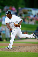 West Michigan Whitecaps Melvin Mercedes #41 during a game against the Bowling Green Hot Rods at Fifth Third Ballpark on June 26, 2012 in Comstock Park, Michigan.  West Michigan defeated Bowling Green 13-11.  (Mike Janes/Four Seam Images)