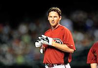 Apr. 2, 2010; Phoenix, AZ, USA; Arizona Diamondbacks shortstop Stephen Drew against the Chicago Cubs at Chase Field. Mandatory Credit: Mark J. Rebilas-