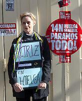 14/11/2012. Madrid. Spain. Teatro Espa?ol.  National Strike. 14N. (c) Bjorn S. Johnson/ Alfaqui