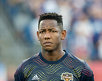 FOXBOROUGH, MA - JUNE 29: Romell Quioto #31 during a game between Houston Dynamo and New England Revolution at Gillette Stadium on June 29, 2019 in Foxborough, Massachusetts.