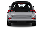 Straight rear view of 2020 Skoda Scala Monte-Carlo 5 Door Hatchback Rear View  stock images