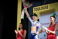 podium with most combative rider of the stage: Aimé De Gendt (BEL/Wanty Gobert)<br /> <br /> Stage 11: Albi to Toulouse (167km)<br /> 106th Tour de France 2019 (2.UWT)<br /> <br /> ©kramon
