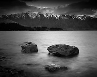 Lake Wakatipu and Remarkables mountains, Central Otago, New Zealand