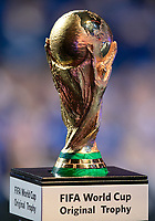 1st December 2017, State Kremlin Palace, Moscow, Russia; Football, Draw for the FIFA- World Cup 2018, Moscow , December 01, 2017  The original world cup trophy on display at the draw